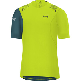 GORE WEAR R7 Shirt Herren citrus green/dark nordic blue